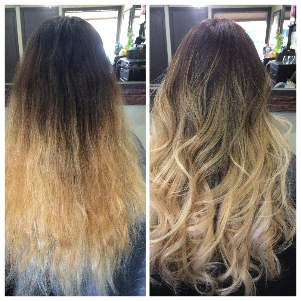Smooth Gorgeous Shine Long Hair With Highlights Ombre Hair Fix J