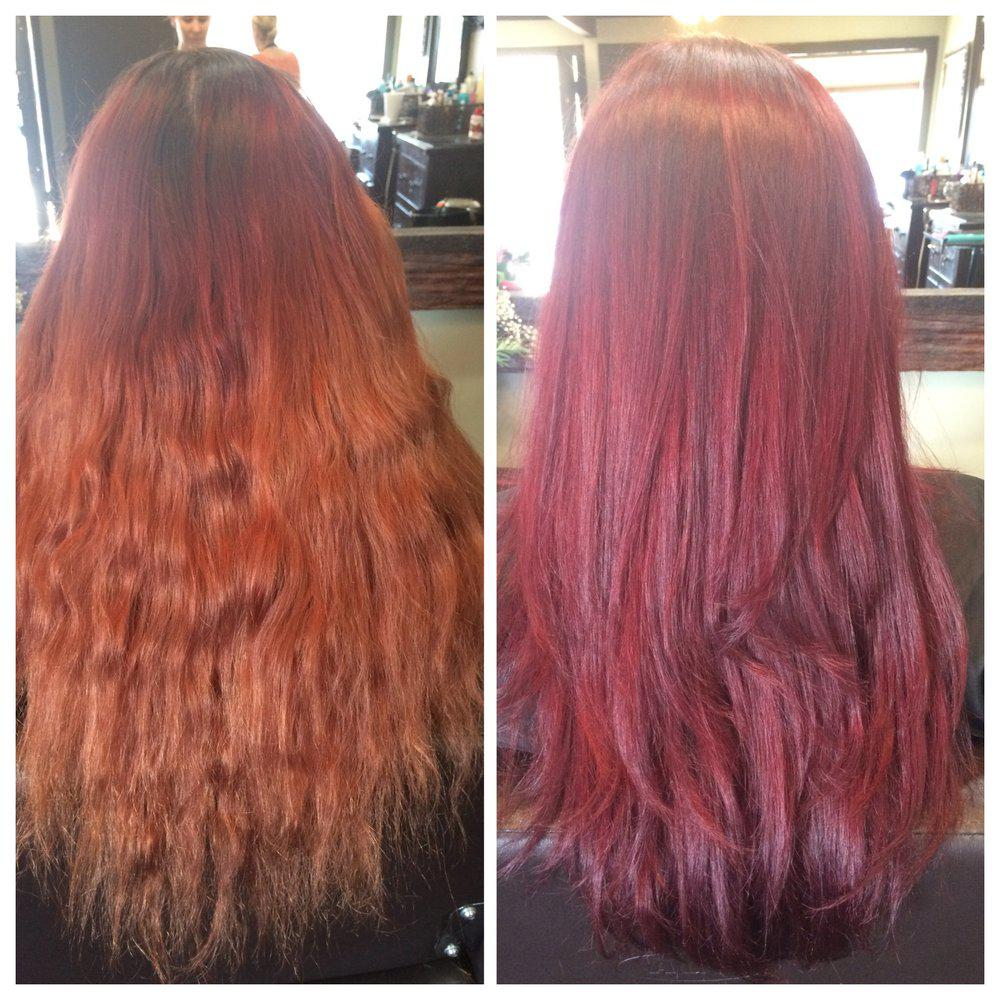Smooth Gorgeous Shine Long Hair With Highlights Red J Anthony